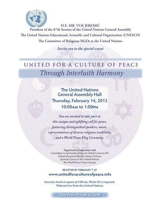 United Culture Peace Interfaith Harmony Flyer