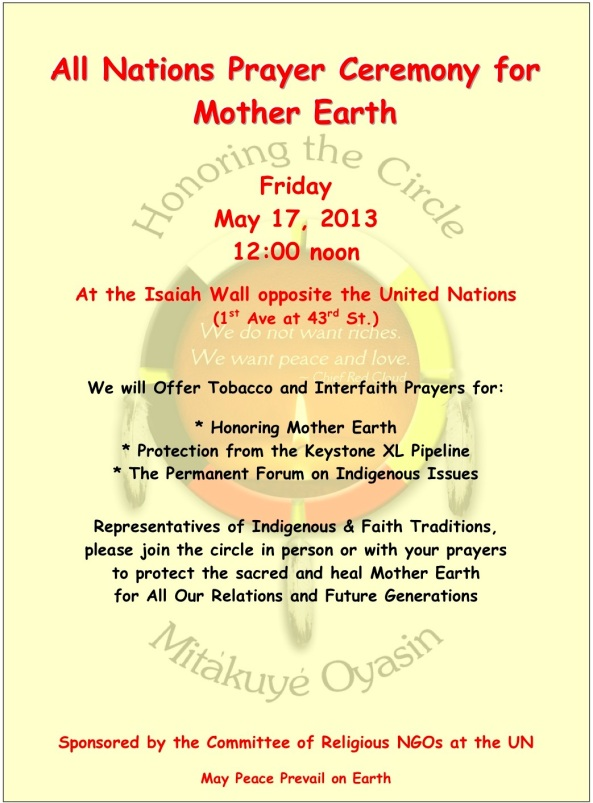 Prayer Ceremony May 17th